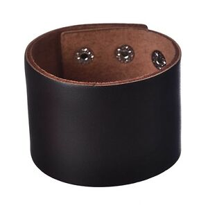5ab285b59489 Vintage Luxury Jewelry Wide Leather Cuff Bracelets for Men Gift Dark ...