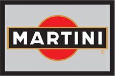 Martini Logo Nostalgie Barspiegel Spiegel Bar Mirror 22 x 32 cm