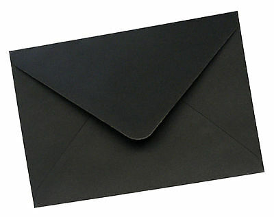50 x A5/C5 Jet Black Envelopes - Wedding Invitations