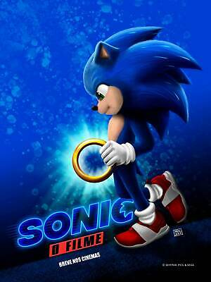 N649 Sonic The Hedgehog 2019 Movie 14x21 24x36 32x48 Poster Ebay