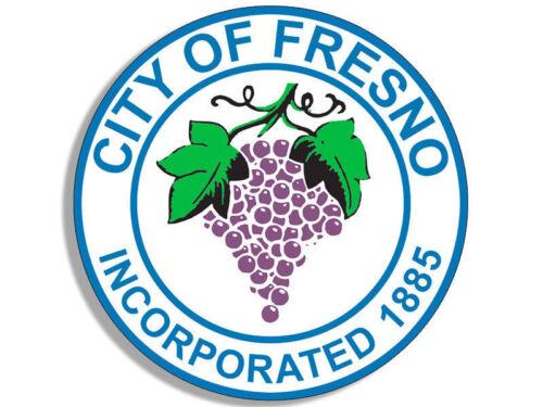 """4/"""" FRESNO CALIFORNIA CITY SEAL HELMET BUMPER DECAL CAR STICKER USA MADE"""
