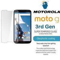 100% Genuine Tempered Glass Film Screen Protector for Motorola Moto G 3rd Gen