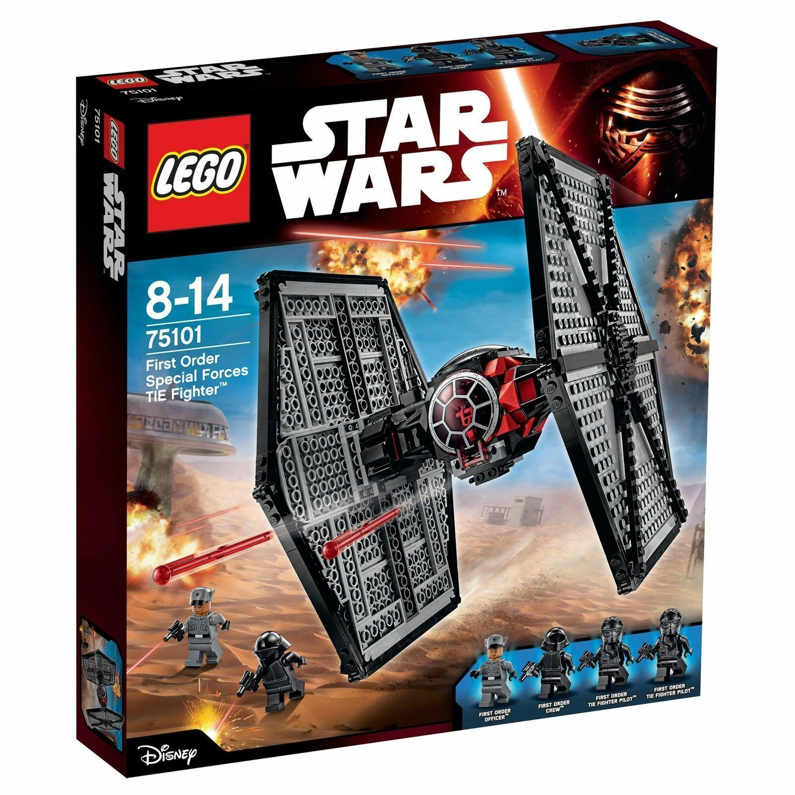 LEGO Star Wars First Order Special Forces TIE fighter (75101)NEW BUT WEAR ON BOX