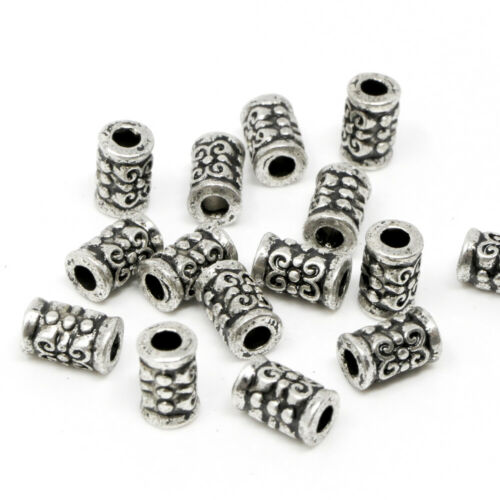 Metal perlas perlas 7mm spacer 15x laminado metal beads bastones bastelperlen