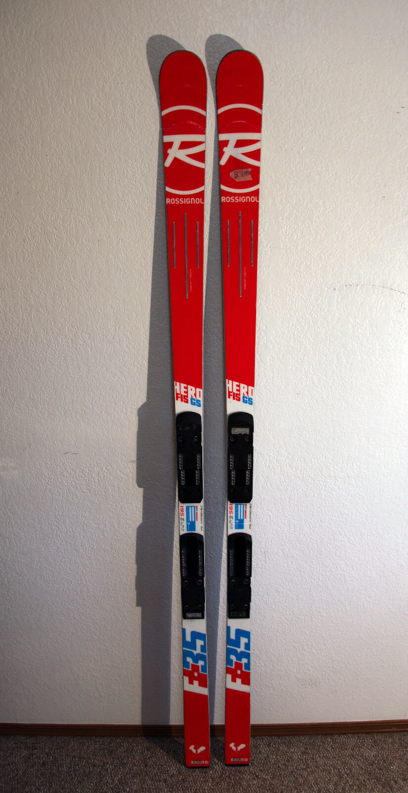 2018 Rosignol Hero F-35 FIS GS Downhill Race Skis 195 cm. with Race Plates