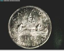 1966 Canada, Voyageur, Canoe, $1 Unc High Grade, Slv  (Can-283)