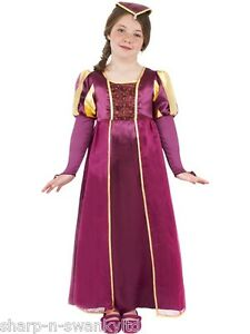 Girls-Rich-Long-Tudor-Medieval-Historical-Book-Day-Fancy-Dress-Costume-Outfit