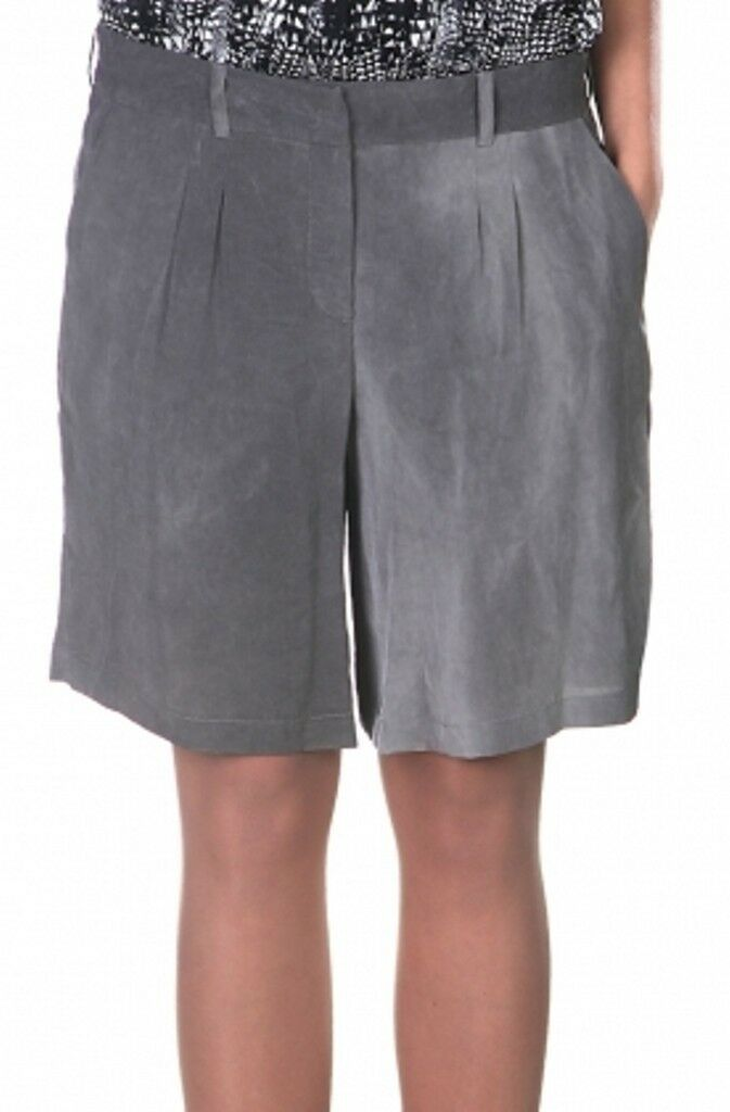 580 - MARKUS LUPFER Dress SHORTS Dust TAILORED Bermudas GREY M Free Shipping