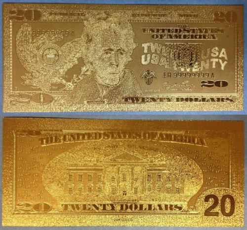 7 items 24 KT 99.9/% GOLD BILLS $1-$2-$5-$10-$20-$50-$100 comes inside holders