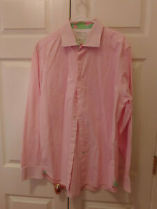 Men-Lilly-Pulitzer-Wyeth-Pink-Check-Gingham-Button-Down-Shirt-Size-XL