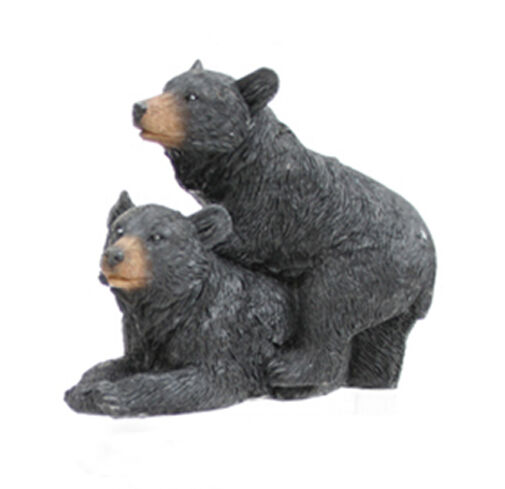 Realistic Black Bear Wildlife Couples Figurines Indoor Home Decor Your Choice