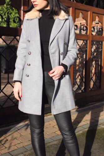 Nina 4 Trench Jacket Slim Nuovo Grey a Petite Biker Boyfriend Coat Topshop 18 pBwxzERqyZ