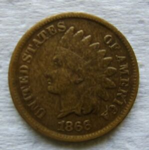 1866-Indian-Head-Cent-Fine-to-VF-Good-Eye-Appeal