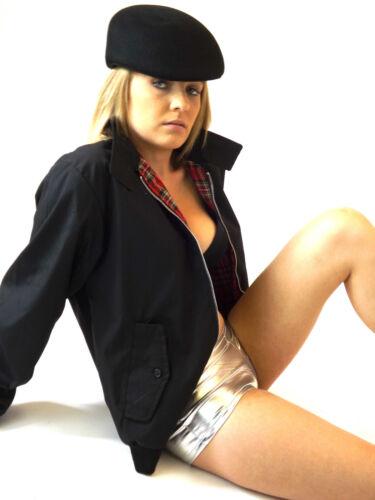 New Mens Womens Harrington Jacket Classic Coat Black XS S M L XL 3XL 4XL