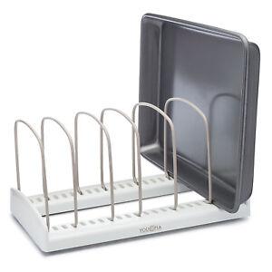 Kitchen Cabinet Adjustable Bakeware Cookware Rack Pan Pot ...