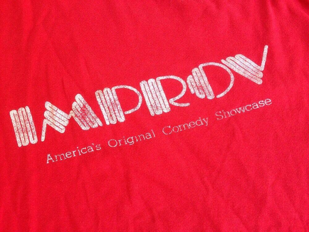 Vintage 80s The Improv Hollywood San Diego Improvisation Theater T-Shirt USA M-L