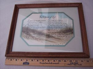 The-Footprints-of-God-Homco-Framed-Picture-Gail-Ken-Brown-1984-Christian-Poem