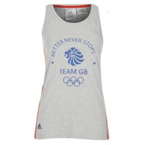 adidas Olympics LONDON 2012 m GB Women's VestTank Top, Size 16