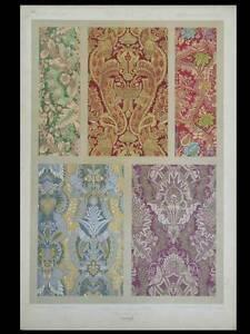 Inventif Soieries Francaises, Xviie - Lithographie 1877 - Dentelle, Dupont-auberville