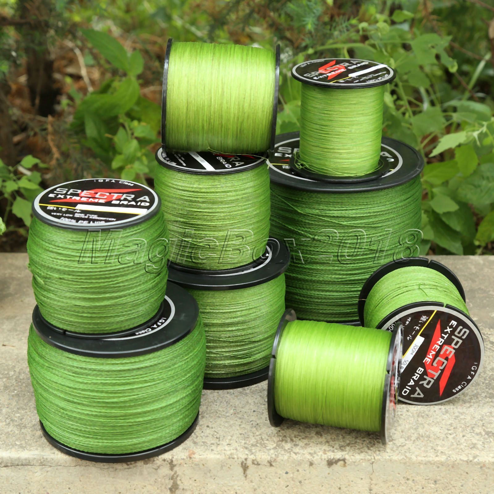 Army Green 300-1000M Strong Spectra Braided Line Sea Freshwater Fishing Line