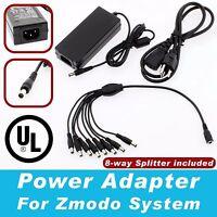 8 Port 12v 5a Dc Power Adapter For Zmodo Security Cameras Cctv Security Dvr Ul