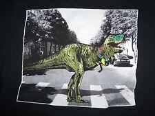 Hip Hop Dinosaur Beatles Crossing Street Parody Funny Humor Graphic T Shirt XL