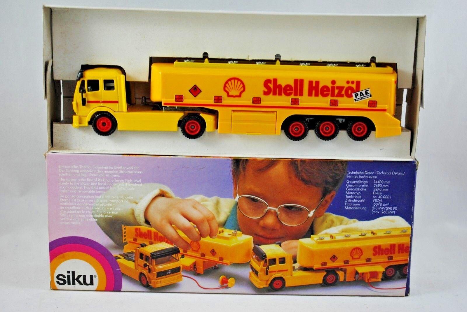 despacho de tienda Siku 3511 Amarillo Mercedes-Benz Camión y y y petrolero del combustible en la cásCochea heizol librea MIB  tienda de bajo costo