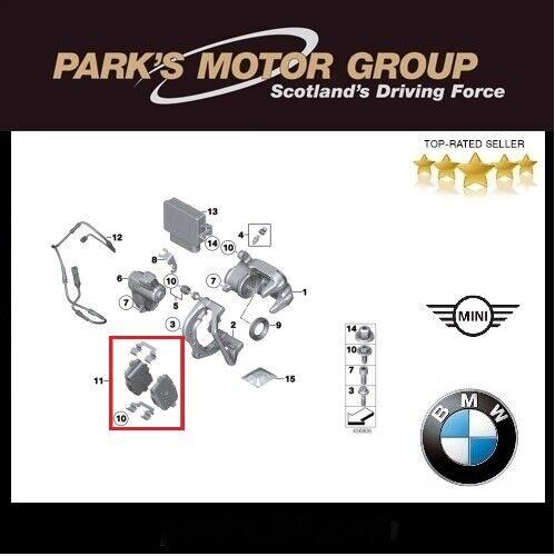 BMW Genuine Rear Brake Pads 5 Series-F10 F11  X3 F25 X4 F26 34216862202