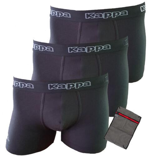 Unterwäsche Unterhose S-5XL Kappa Herren-Boxer-Shorts Black-Ziatec-Edition