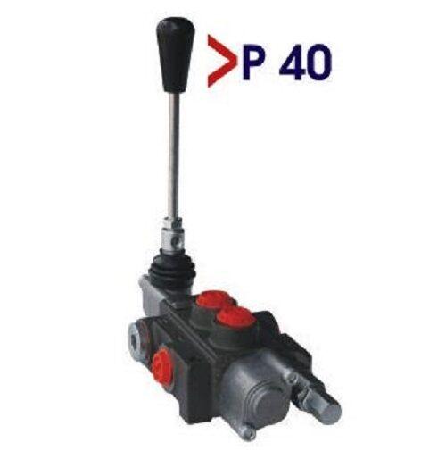 Válvula de fiscal, mano palanca válvula, unidad de control para hendidora de troncos, hidráulica 50 litros