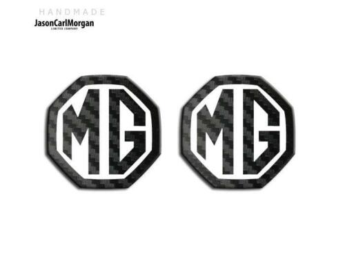 MG ZR LE500 Style MK1 Badge Inserts Front Rear 59mm Black Carbon White Badges