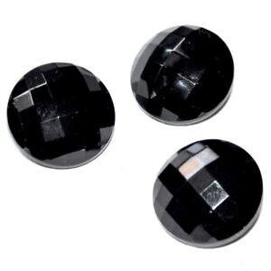 Lot De 3 Boutons Anciens En Verre Noir Facetté 22mm Button N0x20szw-07223802-442485449