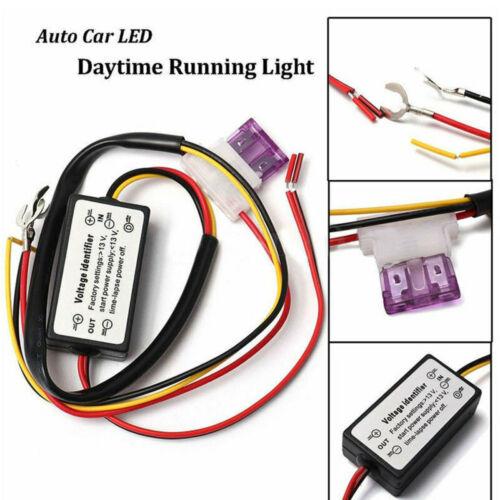 DRL Controller Auto Car LED Daytime Running Light Relay Harness Dimmer Fog