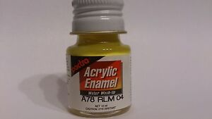 Pactra-Paint-A78-Yellow-Gelb-SG-Acrylic-Enamel-Water-WashUp-10ml-Bottle-PL