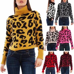Maglione-donna-pullover-maculato-leopardato-collo-alto-corto-TOOCOOL-VB-1752