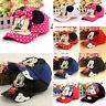 Kids 3D Mickey Minnie Baseball Cap Boys Girls Adjustable Sports Sun Snapback Hat