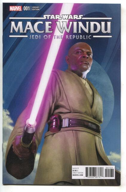Star Wars Jedi Republic Mace Windu 1 Marvel 2017 NM 1:10 Rahzzah Variant