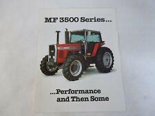 Massey Ferguson Mf 3500 Series Models 3505 3525 3545 Tractor Brochure