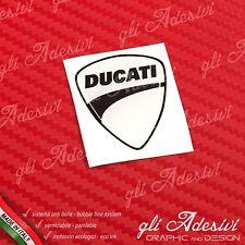 1 Adesivo Resinato Sticker 3D Ducati Corse White Nuovo 40 mm