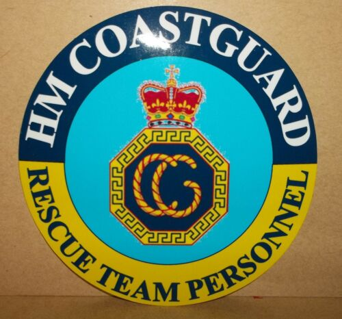 HM Coastguard Rescue Team Personnel 9 cm vinyl sticker..