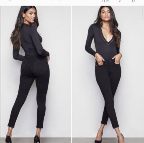 Good American good legs skinny jeans black  High W