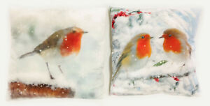 Christmas-Robin-Cushion-2-Designs-Snowy-Winter-Scene-With-Robin-45cm-x-45cm