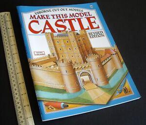 1987 Vintage Usborne Cut-Out Model Book 12th Century Castle 00/H0 Scale. Unused.