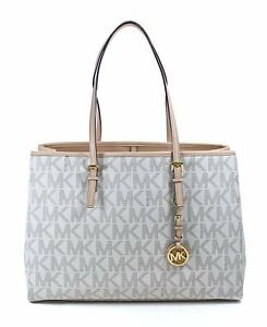 Bnew-Auth-Michael-Kors-Jet-Set-Logo-Travel-Tote-Vanilla-COD-PAYPAL-LUV17