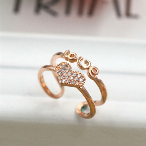 Women Fashion Jewelry Rings SIZE OPEN HJ26 925 Rose gold Plated men