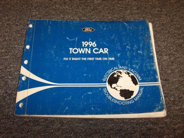 1996 Lincoln Town Car Sedan Electrical Wiring  U0026 Vacuum