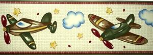 Vintage-AIRPLANES-WALL-BORDER-Jet-CoCaLo-In-Flight-Boys-Nursery-Plane-Wall-Decor