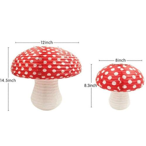 1Pcs Large Mushroom Shaped Paper Lanterns for  Birthday Party Decor Hanging 3D