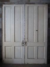 Antique Victorian Four Panel Pocket Doors - C. 1890 Fir Architectural Salvage