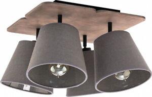 Plafoniera Soffitto E27 : Plafoniera grigio e luce tessuto lampada da soffitto moderna
